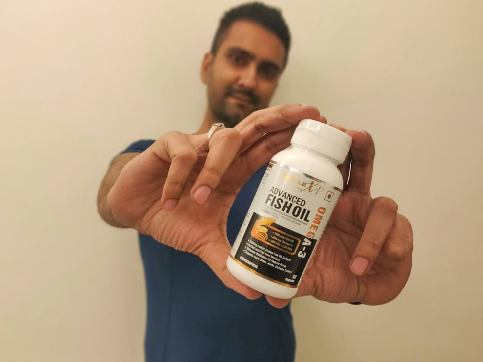 MuscleXP Enteric Coated Fish Oil 1000mg; 330mg Omega-3; 60 Burp-less, Rapid Release Softgels-Answer to my omega 3 daily need.-By abhinay_vij-2