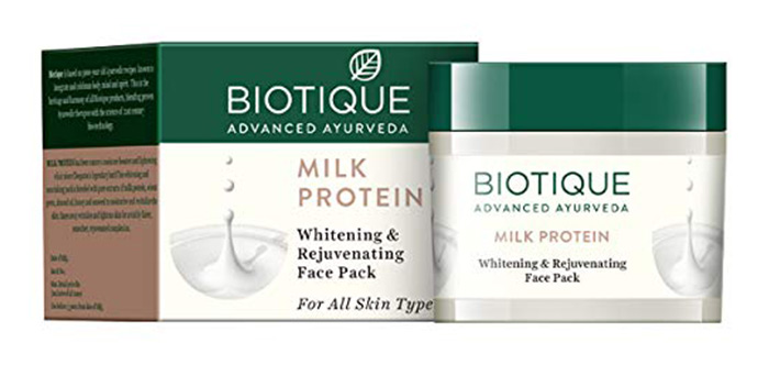 BIOTIQUE Bio Milk Protein Whitening & Rejuvenating Face Pack
