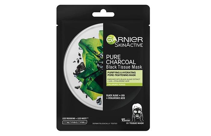 GARNIERSKINACTIVE PURE CHARCOAL Black Tissue Mask