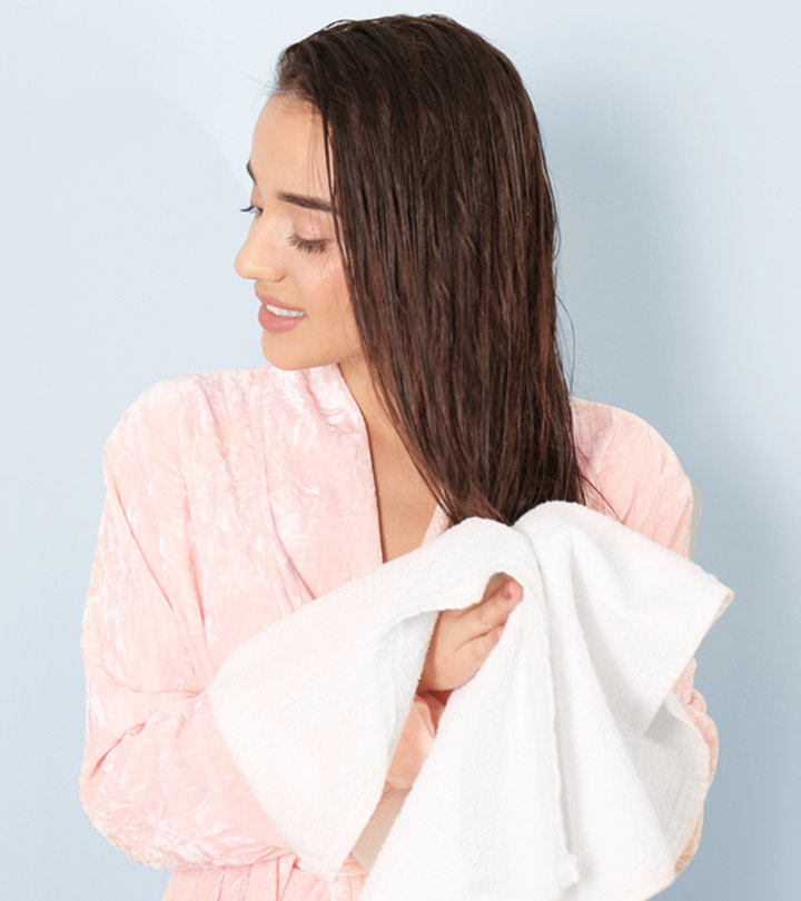 How To Towel-Dry Your Hair The Right Way