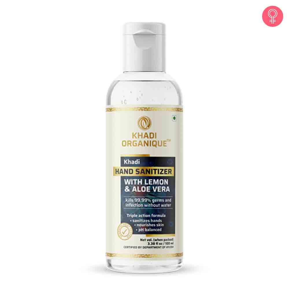 Khadi Organique Aloe Vera & Lemon Hand Sanitizer
