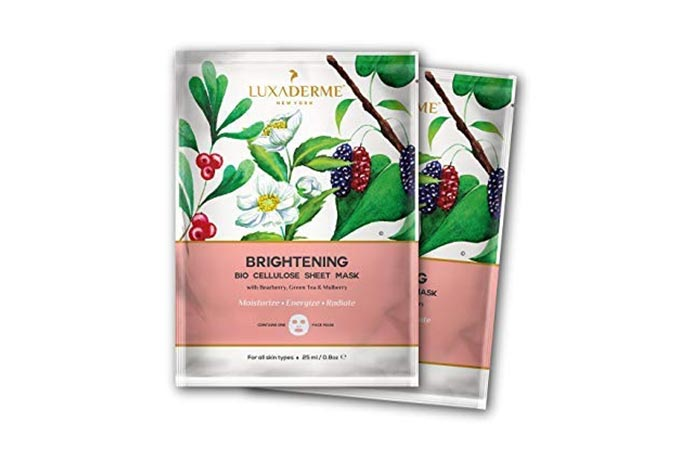 LUXADERME Brightening Bio Cellulose Sheet Mask