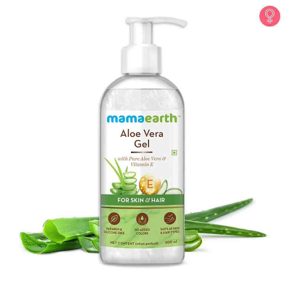 Mamaearth Aloe Vera Gel With Pure Aloe Vera & Vitamin E