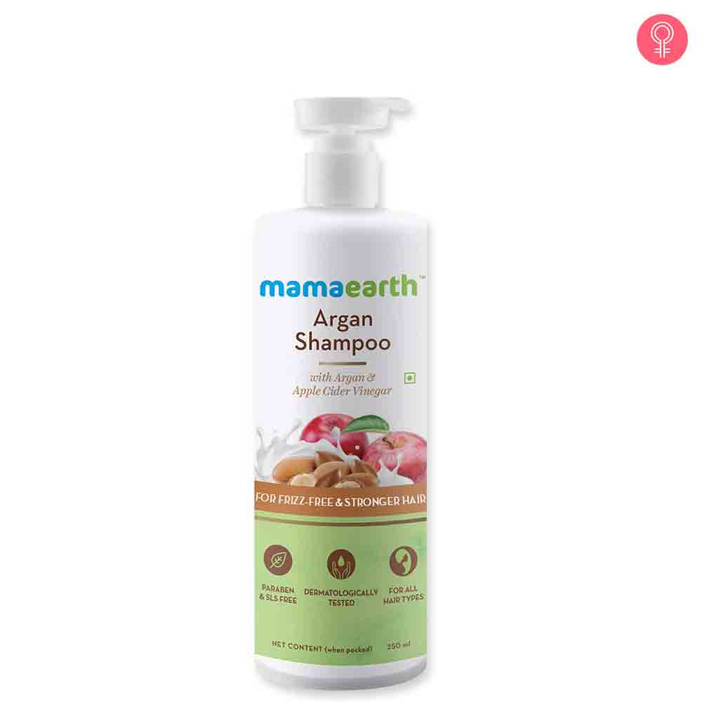 Mamaearth Argan Shampoo With Argan And Apple Cider Vinegar For Frizz Free Hair