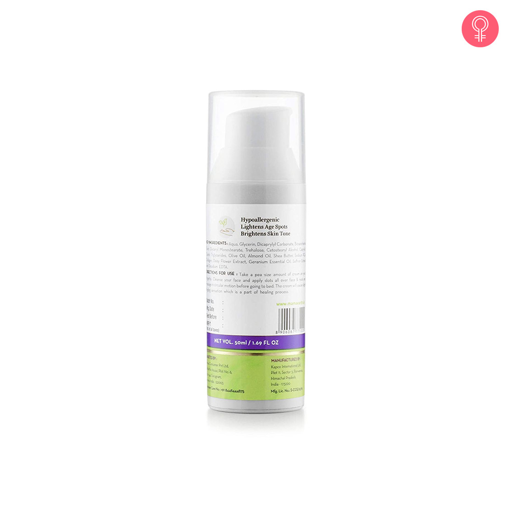 Mamaearth Overnight Repair Face Cream