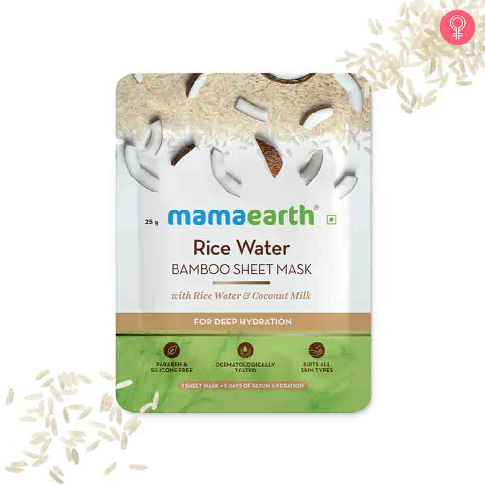 Mamaearth Rice Water Bamboo Sheet Mask
