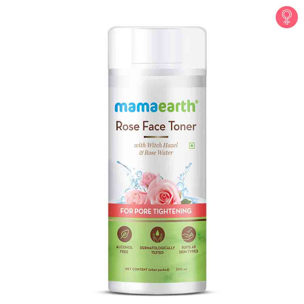 Mamaearth Rose Face Toner With Rose Water And Witch Hazel