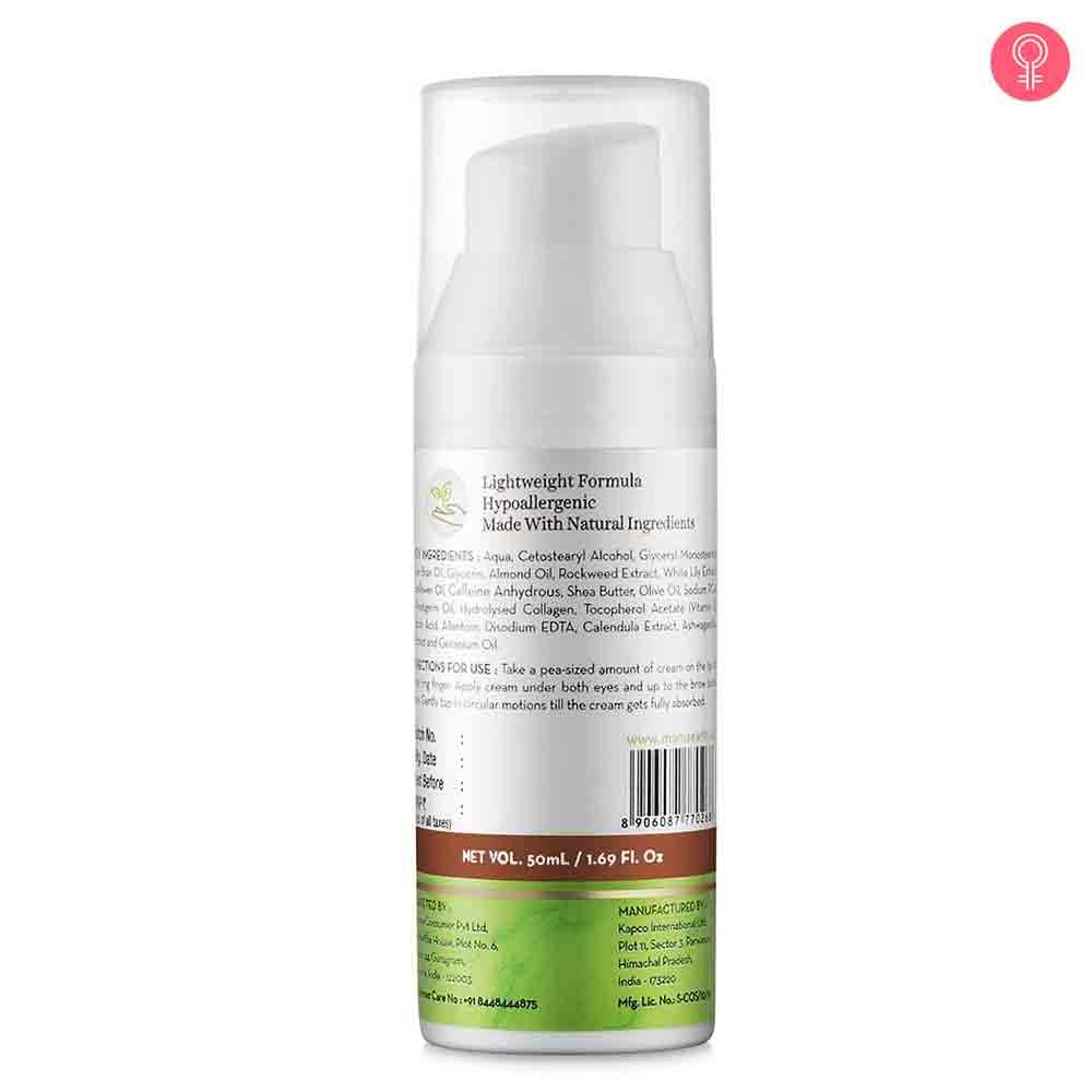 Mamaearth Under Eye Cream With Cucumber & Caffeine For Dark Circles