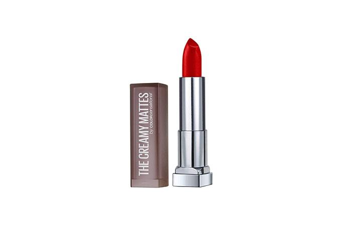 Maybelline New York Creamy Matte Lipstick in 160 Siren in Scarlet