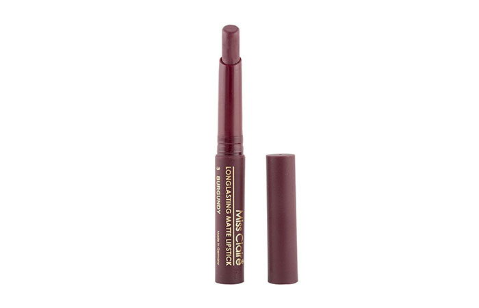 Miss Claire Long Lasting Matte Lipstick in 03 Burgundy