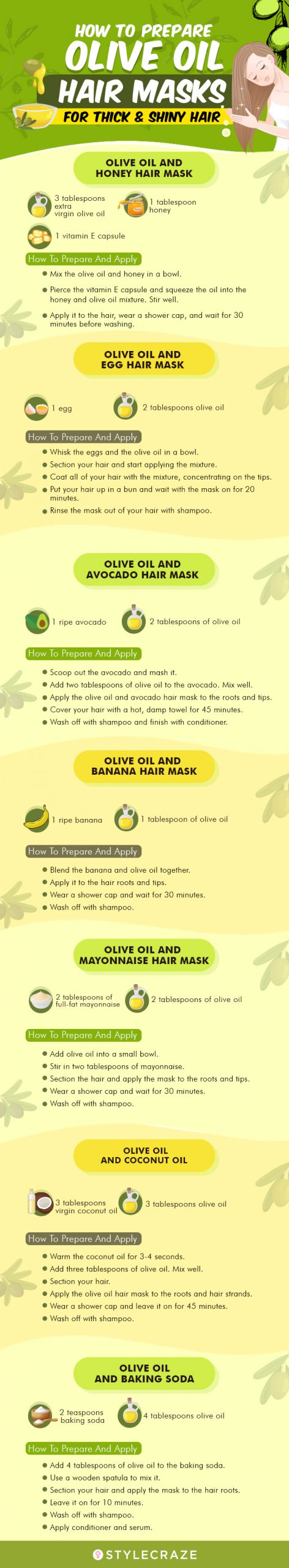 7 Best Olive Oil Hair Masks For Thick And Shiny Hair