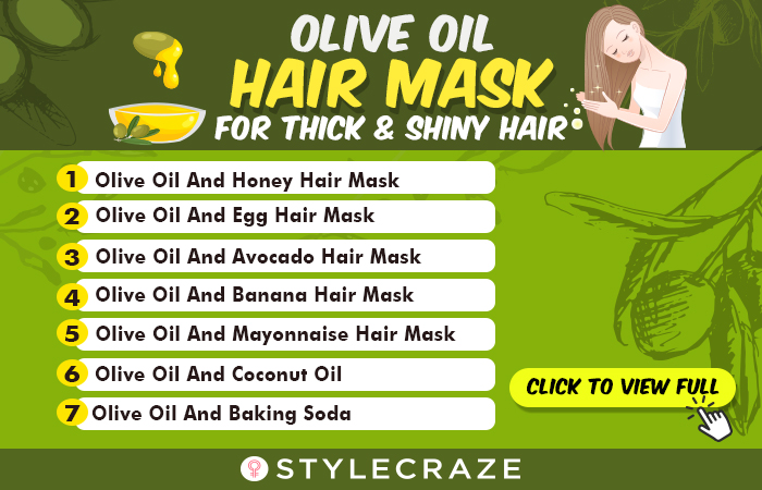 Olive Oil Hair Masks For Thick And Shiny Hair