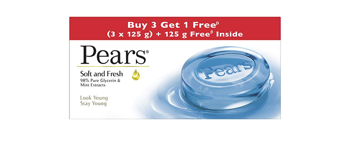 Pears Soft & Fresh 98% Pure Glycerin & Mint Extracts