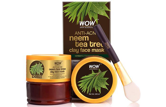 WOW SKIN SCIENCE Anti-Acne Neem & Tea Tree Clay Face Mask