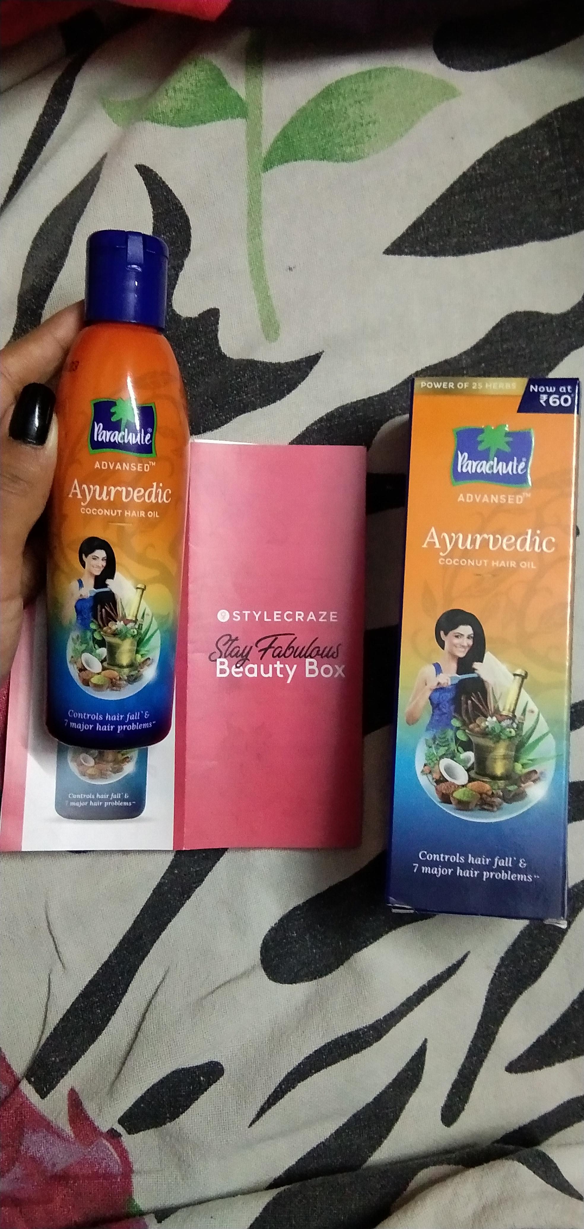 Parachute Advansed Ayurvedic Coconut Hair Oil-100 percent ayurvedic oil-By monisha_blessy