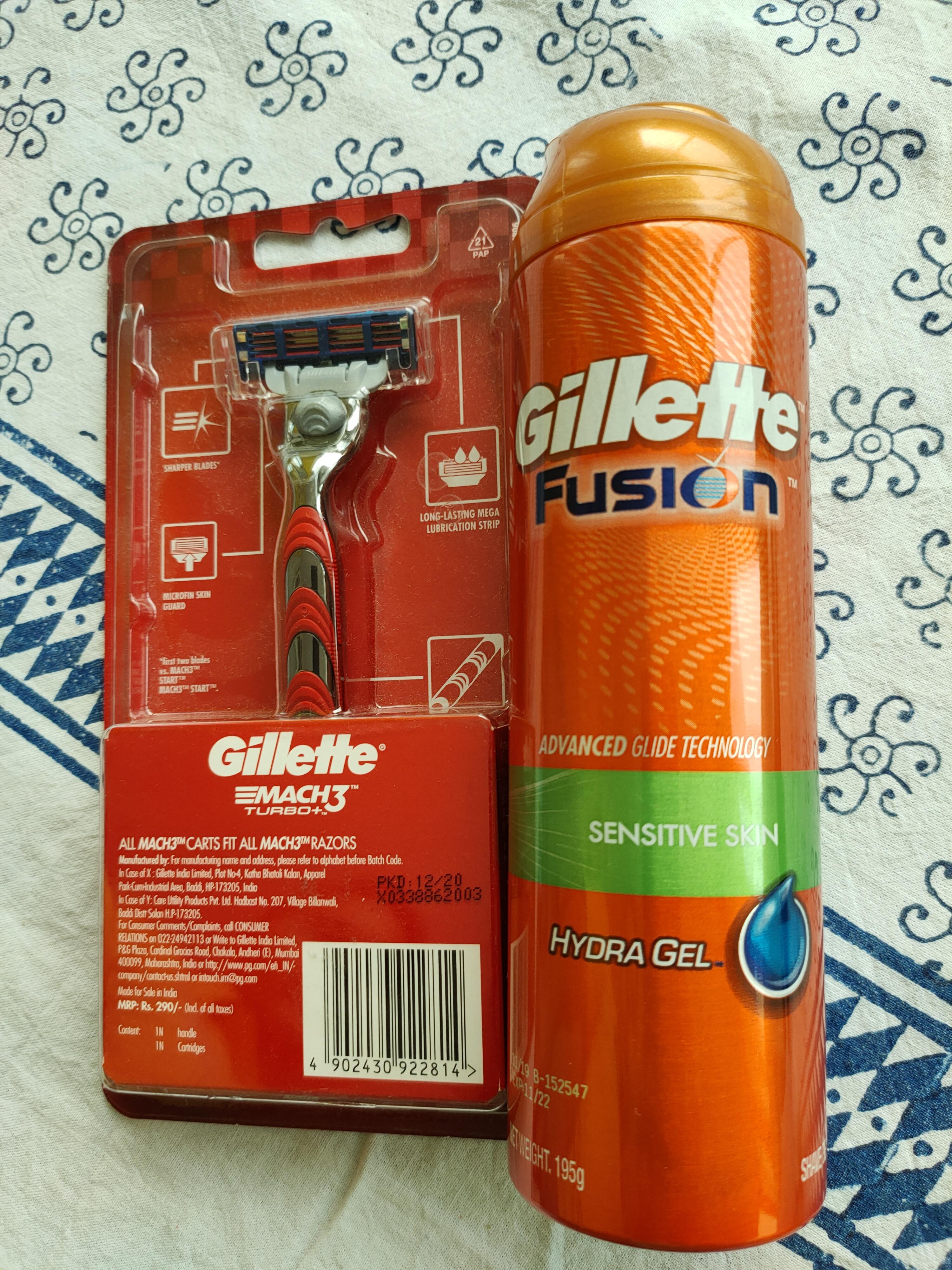 Gillette Fusion Hydra Gel Sensitive Pre Shave Gel-superb shaving product-By manoj_maharana-3