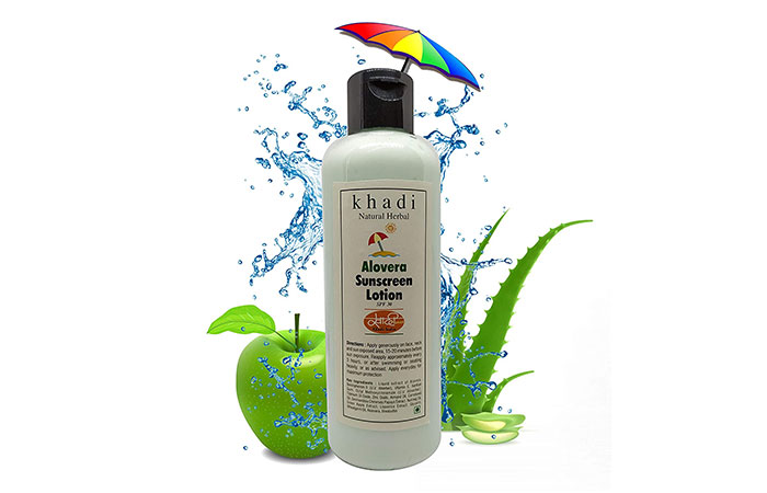 khadi Natural Herbal Alovera Sunscreen Lotion
