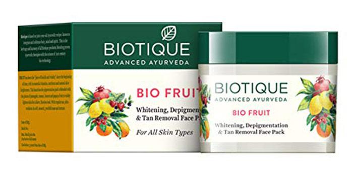 BIOTIQUE Bio Fruit Whitening. Depigmentation & Tan Removal Face Pack