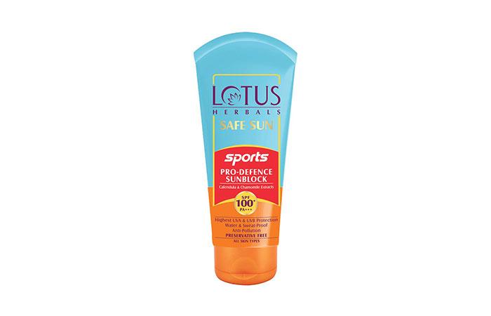 Lotus Herbals Safe Sun Sports Pro-Defence Sunblock