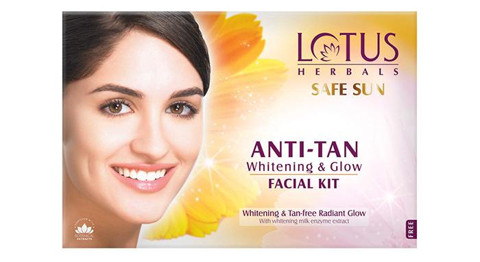 Lotus Safe Sun Anti Tan Whitening & Glow Facial Kit