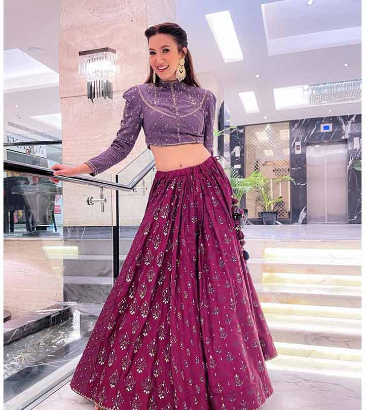 Gauahar Khan Gives Us Total #StyleGoals In A Striking Lehenga As She Resumes Work