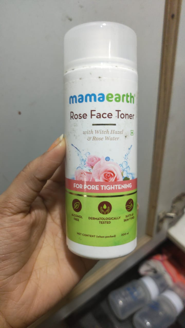 Mamaearth Rose Face Toner With Rose Water And Witch Hazel -Refreshing toner-By neetu_solanki