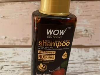 WOW Skin Science Apple Cider Vinegar Shampoo – No Parabens & Sulphate – 300 ml pic 1-Perfect pick for damaged , lifeless hair..!!!-By rinshi_fasal