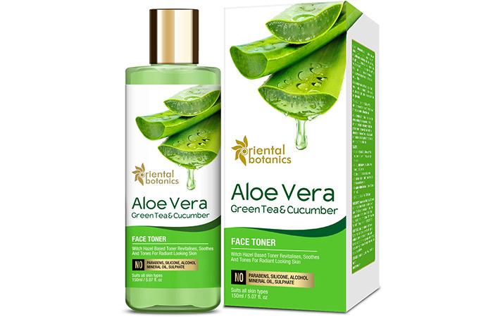 Oriental Botanics Aloe Vera, Green Tea & Cucumber Face Toner
