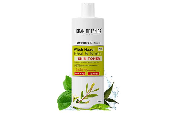 Urban Botanics Witch Hazel, Basil & Neem Skin Toner