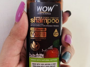 WOW Skin Science Apple Cider Vinegar Shampoo – No Parabens & Sulphate – 300 ml pic 3-Perfect pick for damaged , lifeless hair..!!!-By rinshi_fasal