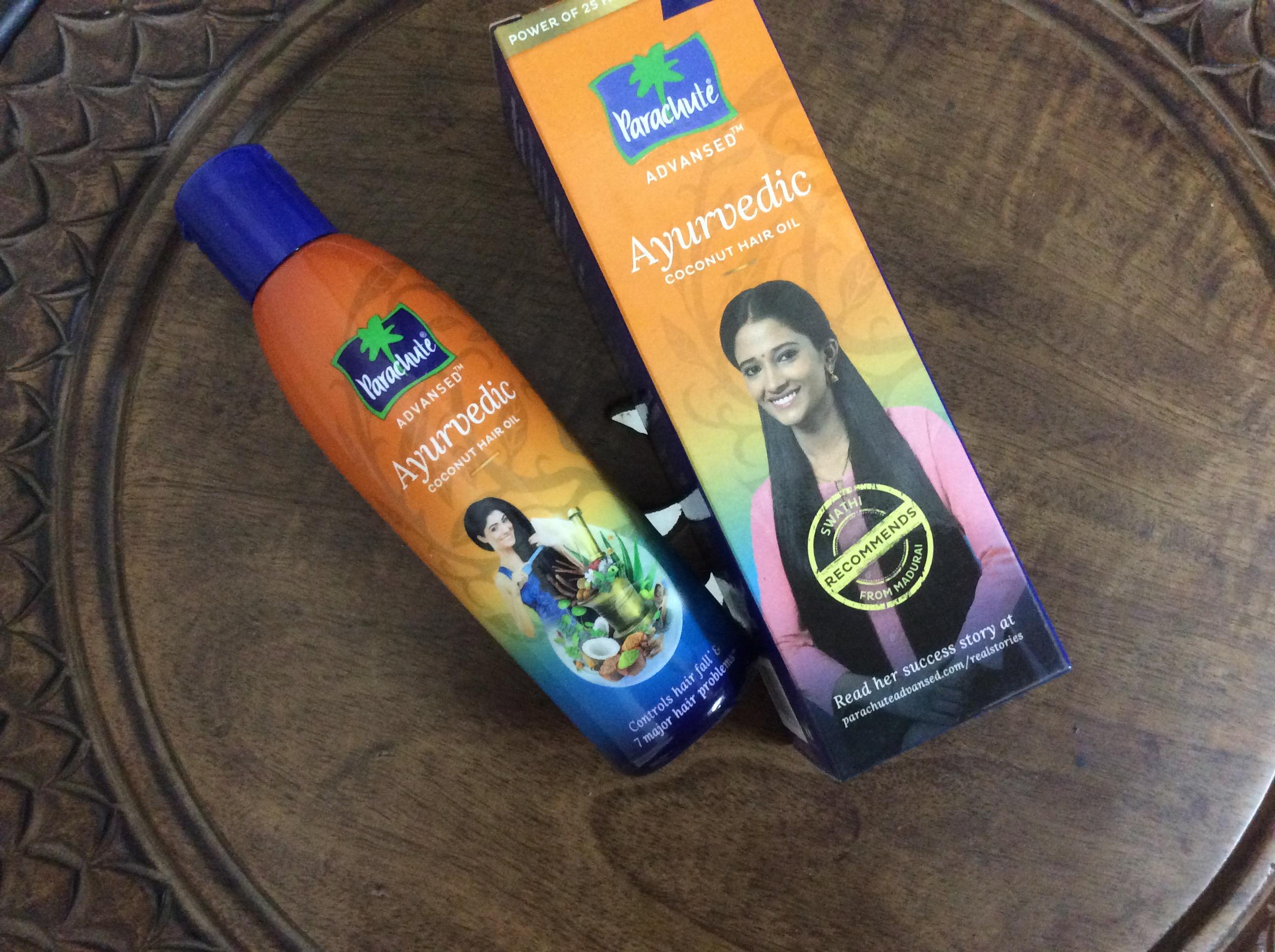 Parachute Advansed Ayurvedic Coconut Hair Oil -Very light and smells pleasant-By divya_khera