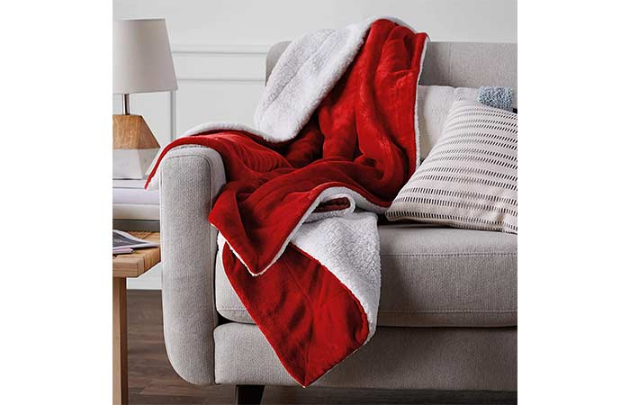 AmazonBasics Micromink Sherpa Blanket