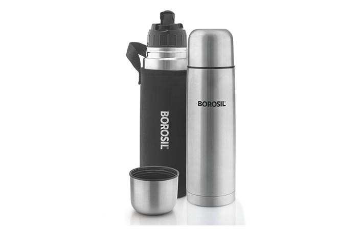 BOROSIL Hydra Thermo Stainless Steel Flask