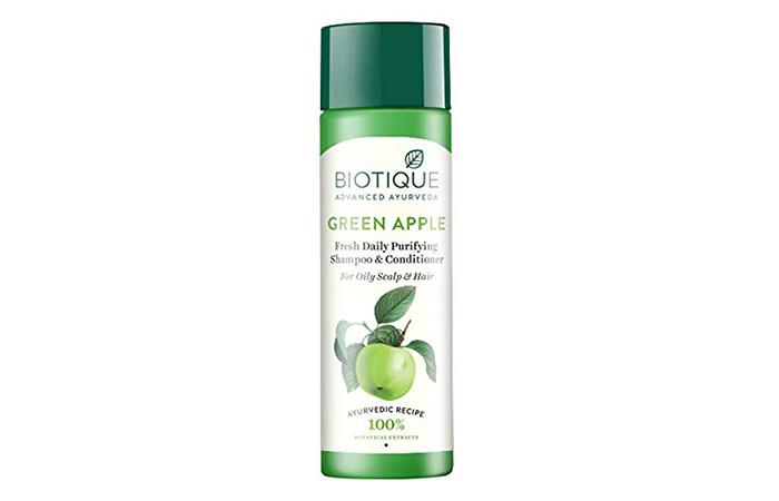Biotique Advanced Ayurveda Green Apple Fresh Daily Purifying Shampoo & Conditioner