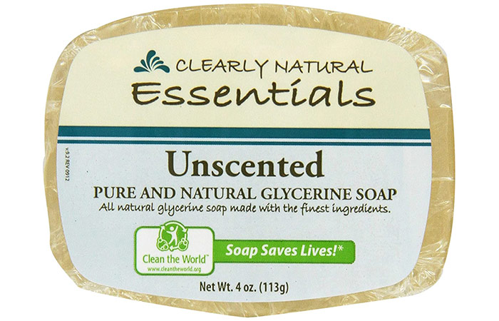 Clearly Natural Essentials Unscented Glycerin Soap
