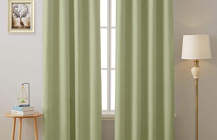 Cloth Fusion Fabric Solid Curtain