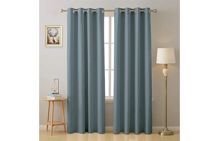 Cloth Fusion Valance Blackout Door Curtain
