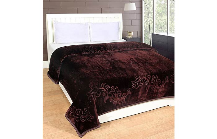 EVERDECOR Balaji Creations Embossed Double Bed Blanket