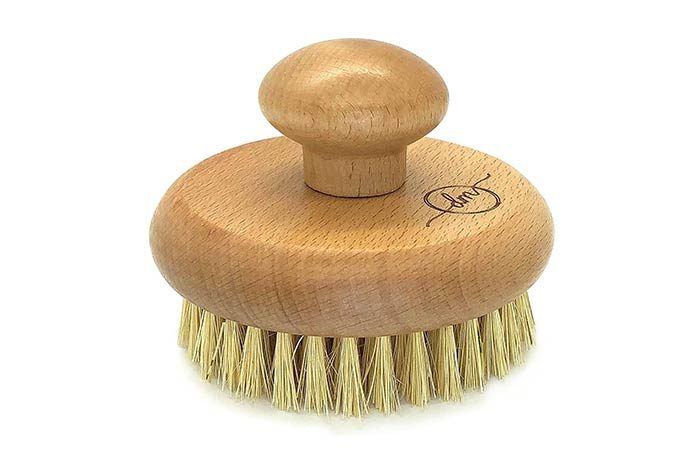 Exfoliating Bamboo And Wooden Dry Body Brush