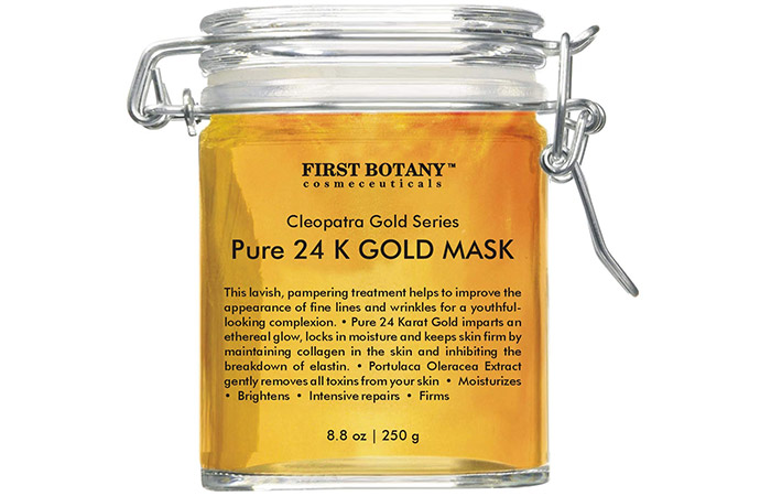 First Botany Cosmeceuticals Cleopatra Gold Series Pure 24K Gold Mask