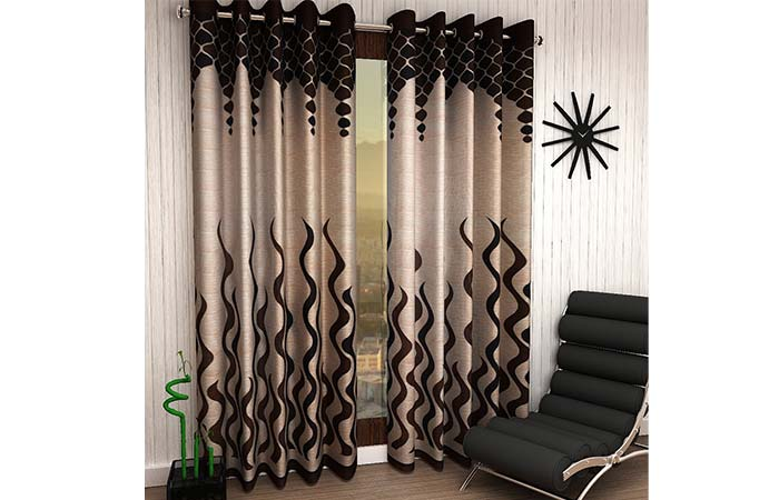 Home Sizzler Polyester Eyelet Window Curtains