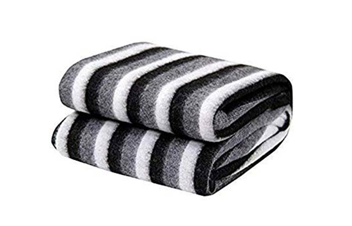Home Stylish Soft Warm Striped Double Blanket