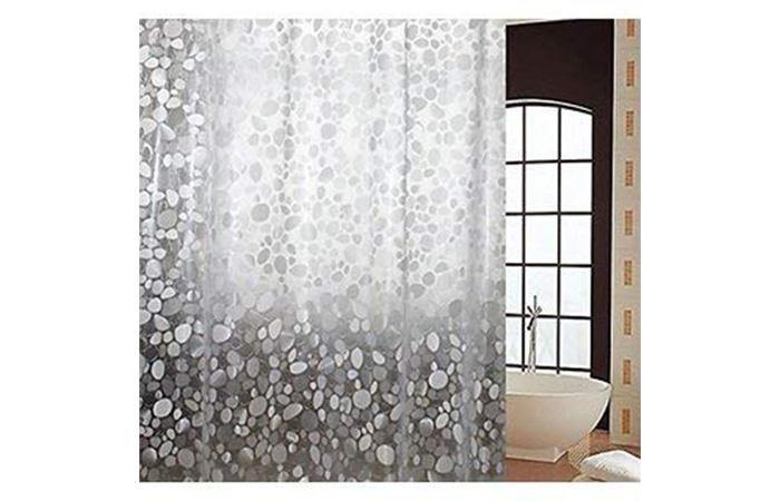 KHUSHI CREATION PVC Waterproof Shower Curtain