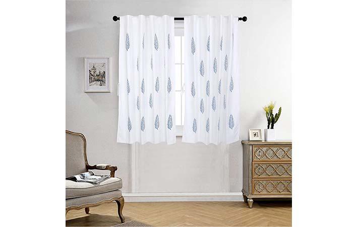 LINENWALAS Cotton Motif Window Curtain