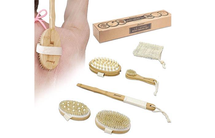 Leporem 5 in 1 Body Brush Set