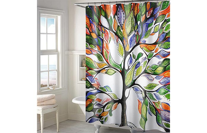Lushomes Polyester Digital Print Shower Curtain