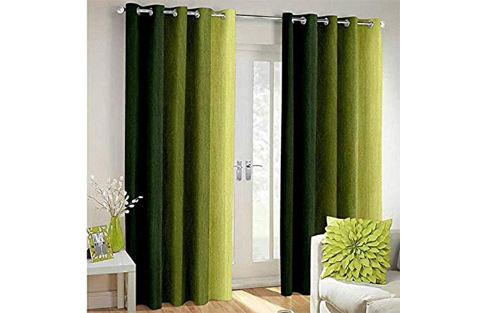 MODERN FAB Polyresin Solid Grommet Door Curtain