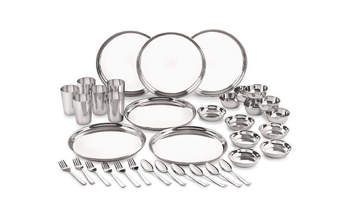 Neelam Stainless Steel Dinner Set