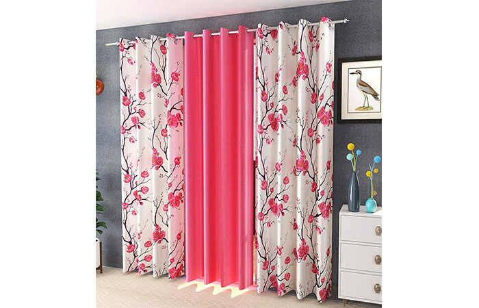 Soulful Creations Polyester Floral Door Curtain