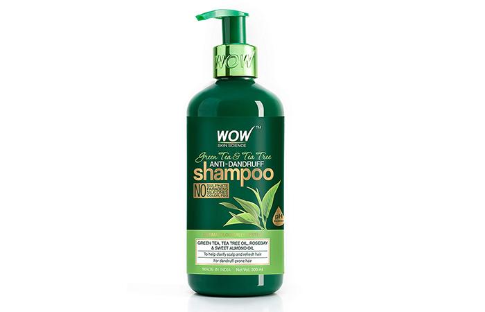 Wow Skin Science Green Tea & Tea Tree Anti-Dandruff Shampoo